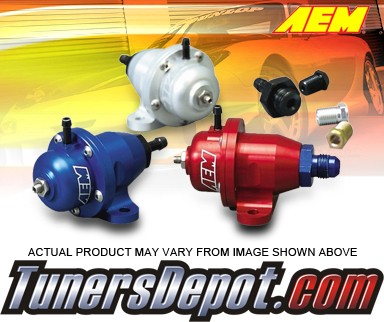 AEM® Adjustable Fuel Pressure Regulator (Silver) - 96-00 Honda Civic CX, DX, LX, and HX