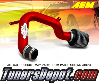 AEM® Cold Air  Intake System (Red) - 01-05 Honda Civic Dx, Lx (M/T Only)