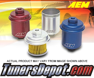 AEM® High Volume Fuel Filter (Silver) -94-01 Acura Integra RS, LS, GS, and GSR