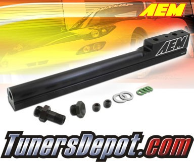 AEM® High Volume Fuel Rails (Black) - 94-01 Acura Integra RS, LS, GS, GSR