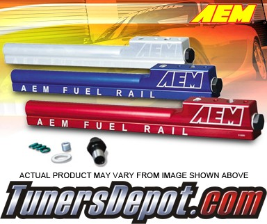 AEM® High Volume Fuel Rails (Silver) - 89-94 Plymouth Laser Turbo (Incl. AWD)