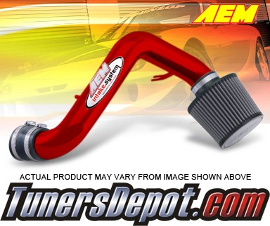 AEM® Short Ram Induction Air Intake System (Red) - 01-05 Honda Civic DX and LX