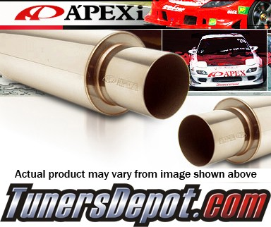 APEXi® N1 Metal Universal Muffler -  Turbo (Black)