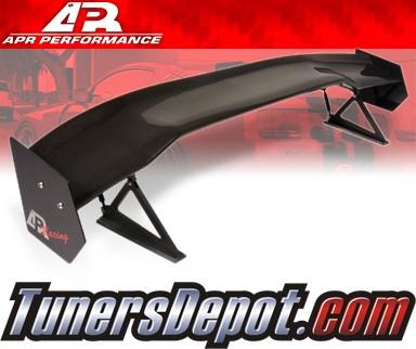 APR® Adjustable Spoiler Wing (CARBON) - GTC-200 - 03-07 Mitsubishi Lancer EVO VIII, EVO IX