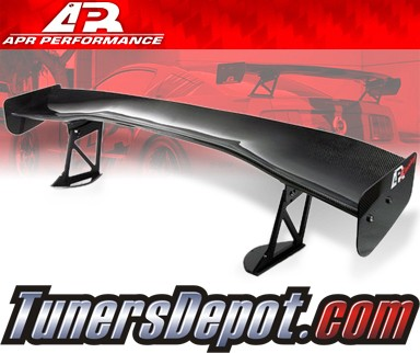 APR® Adjustable Spoiler Wing (CARBON) - GTC-300 (61&quto;) - 08-10 Mitsubishi Lancer EVO X