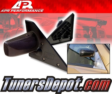 APR® Formula GT3 Carbon Fiber Side View Mirrors - 00-05 Lexus IS300 (Black Base)