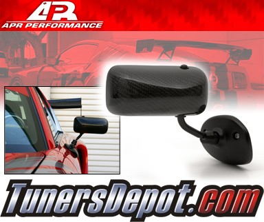 APR® Formula GT3 Carbon Fiber Side View Mirrors - 00-05 Toyota MRS MR-S (Black Base)