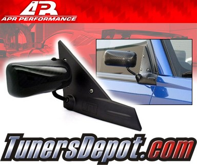 APR® Formula GT3 Carbon Fiber Side View Mirrors - 02-07 Subaru Impreza WRX (Black Base)