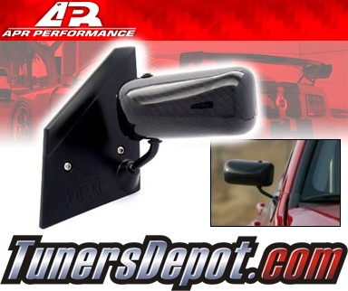 APR® Formula GT3 Carbon Fiber Side View Mirrors - 03-07 Mitsubishi Lancer (Black Base)