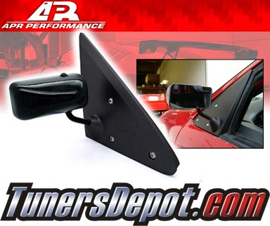 APR® Formula GT3 Carbon Fiber Side View Mirrors - 92-95 Honda Civic (Black Base)