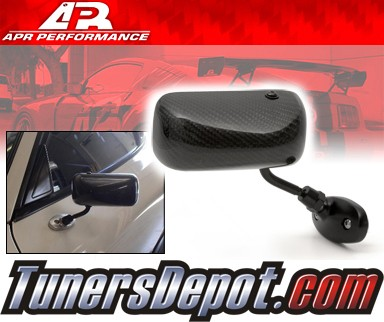 APR® Formula GT3 Carbon Fiber Side View Mirrors - 93-95 Mazda RX-7 RX7 (Black Base)
