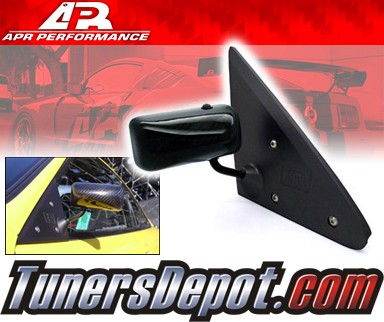 APR® Formula GT3 Carbon Fiber Side View Mirrors - 94-01 Acura Integra (Black Base)