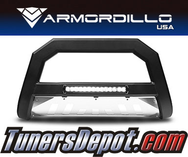 Armordillo® AR LED Series Bull Bar (Matte Black with Aluminum Skid Plate) - 05-07 Ford F-450 Super Duty