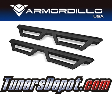 Armordillo USA® AR DROP STEP STYLE Side Step Bars (Matte Black) - 07-18 Jeep Wrangler 4dr Unlimited JKU
