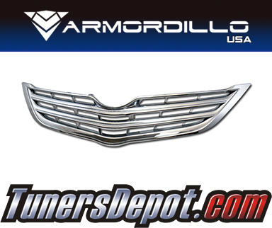 Armordillo USA® Horizontal Style Grill (Chrome) - 06-11 Toyota Yaris 4dr Sedan