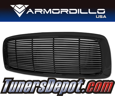 Armordillo USA® Horizontal Style Grill (Gloss Black) - 02-05 Dodge Ram Pickup 1500
