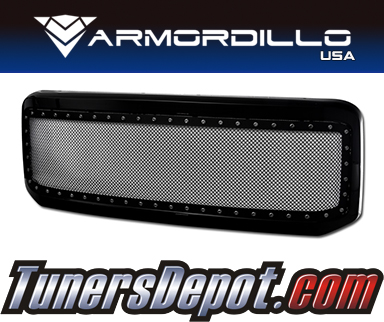 Armordillo USA® Studded Mesh Style Grill (Gloss Black) - 05-07 Ford F-250 Super Duty