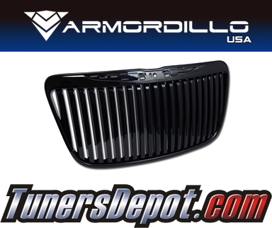Armordillo USA® Vertical Style Grill (Gloss Black) - 11-14 Chrysler 300C