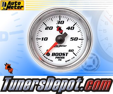 Autometer® 2-1/16&quto; C2 Gauge - Boost Pressure (Electric) : 60 PSI