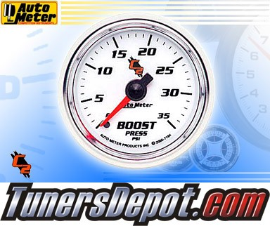 Autometer® 2-1/16&quto; C2 Gauge - Boost Pressure (Mechanical) : 35 PSI