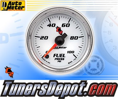 Autometer® 2-1/16&quto; C2 Gauge - Fuel Pressure (Electric) : 100 PSI