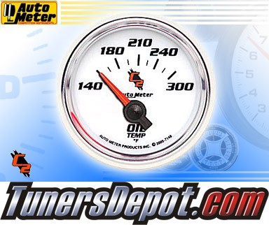 Autometer® 2-1/16&quto; C2 Gauge - Oil Temp (Short Sweep Electric) : 140-300 F
