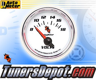 Autometer® 2-1/16&quto; C2 Gauge - Voltmeter (Short Sweep Electric) : 8-18 V