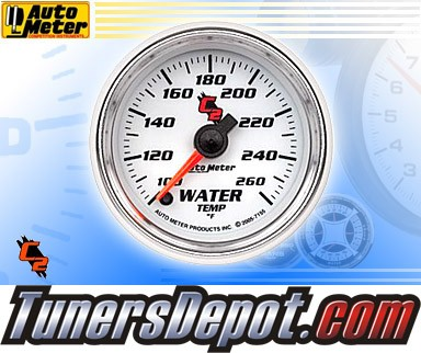 Autometer® 2-1/16&quto; C2 Gauge - Water Temp (Electric) : 100-260 F