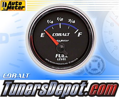 Autometer® 2-1/16&quto; COBALT Gauge - Fuel Level (Short Sweep Electric) : 240 Ohm - 33 Ohm