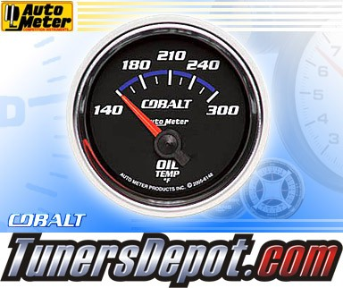 Autometer® 2-1/16&quto; COBALT Gauge - Oil Temp (Short Sweep Electric) : 140-300 F