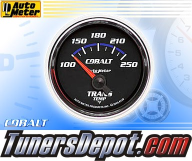 Autometer® 2-1/16&quto; COBALT Gauge - Transmission Temp (Short Sweep Electric) : 100-250 F