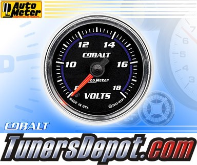 Autometer® 2-1/16&quto; COBALT Gauge - Voltmeter (Electric) : 8-18 Volts