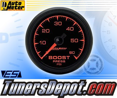 Autometer® 2-1/16&quto; ES Gauge - Boost Pressure (Mechanical) : 60 PSI