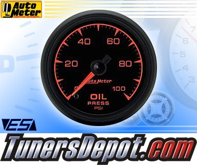 Autometer® 2-1/16&quto; ES Gauge - Oil Pressure (Electric) : 100 PSI