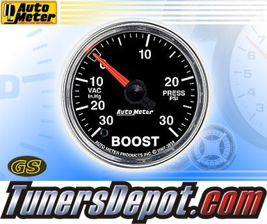 Autometer® 2-1/16&quto; GS Gauge - Boost - Vacuum (Electric) : 30 in. HG / 30 PSI