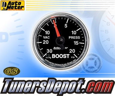 Autometer® 2-1/16&quto; GS Gauge - Boost - Vacuum (Mechanical) : 30 in. HG / 20 PSI