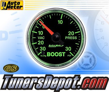 Autometer® 2-1/16&quto; GS Gauge - Boost - Vacuum (Mechanical) : 30 in. HG / 30 PSI
