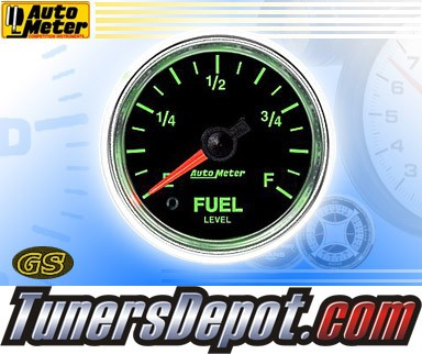 Autometer® 2-1/16&quto; GS Gauge - Fuel Level (Programmable) (Electric) : 280 OHM