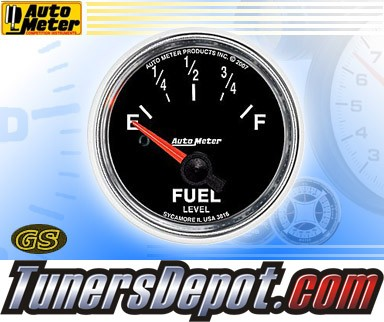 Autometer® 2-1/16&quto; GS Gauge - Fuel Level (Short Sweep Electric) : Empty 240 OHM - 33 OHM Full