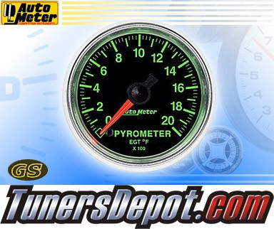 Autometer® 2-1/16&quto; GS Gauge - Pyrometer (Electric) : 2000 F