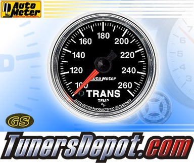 Autometer® 2-1/16&quto; GS Gauge - Transmission Temp (Electric) : 100-260 F