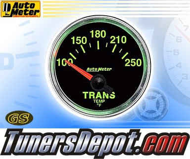 Autometer® 2-1/16&quto; GS Gauge - Transmission Temp (Short Sweep Electric) : 100-250 F