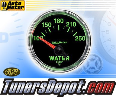 Autometer® 2-1/16&quto; GS Gauge - Water Temp (Short Sweep Electric) : 100-250 F