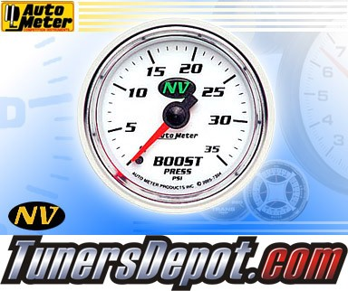 Autometer® 2-1/16&quto; NV Gauge - Boost Pressure (Mechanical) : 35 PSI