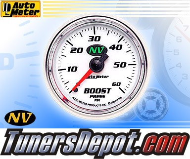 Autometer® 2-1/16&quto; NV Gauge - Boost Pressure (Mechanical) : 60 PSI
