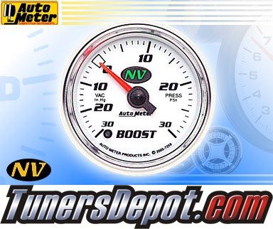 Autometer® 2-1/16&quto; NV Gauge - Boost / Vacuum (Electric) : 30 in. HG / 30 PSI