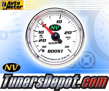Autometer® 2-1/16&quto; NV Gauge - Boost / Vacuum (Mechanical) : 30 in HG / 30 PSI