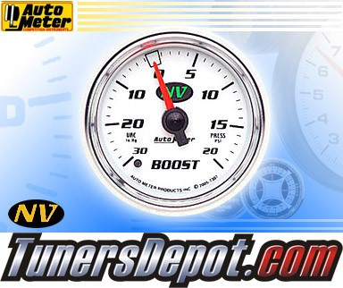 Autometer® 2-1/16&quto; NV Gauge - Boost / Vacuum (Mechanical) : 30 in. HG / 20 PSI