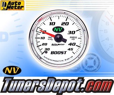 Autometer® 2-1/16&quto; NV Gauge - Boost / Vacuum (Mechanical) : 30 in. HG / 45 PSI