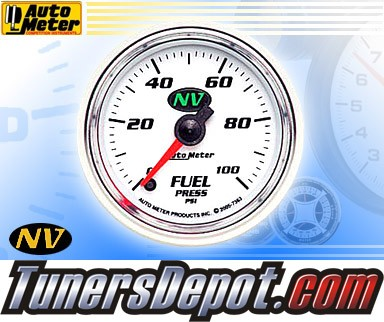 Autometer® 2-1/16&quto; NV Gauge - Fuel Pressure (Electric) : 100 PSI